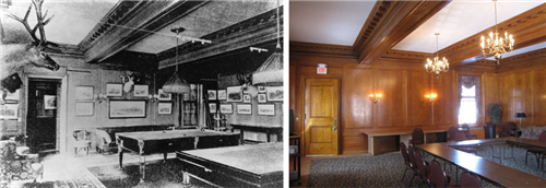 FoF billiard room then and now FULL
