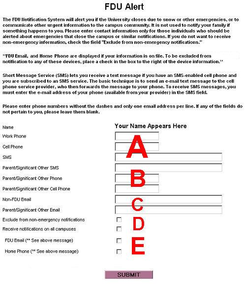 FDU Alert Form FULL