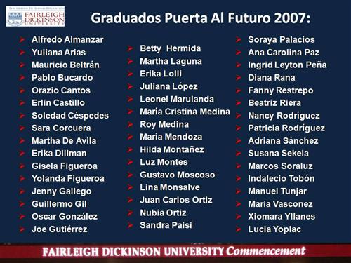 Puerta Graduates 2007 List FULL