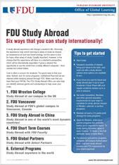 FDU Study Abroad Brouchure