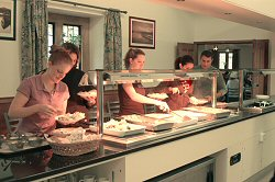 Wroxton dining hall is buffet-style.