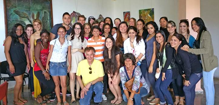 Cuba scholars and art students