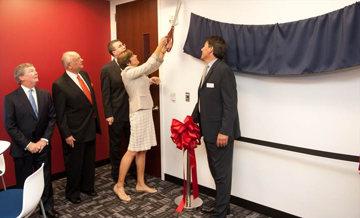 Lewis Center ribbon cut