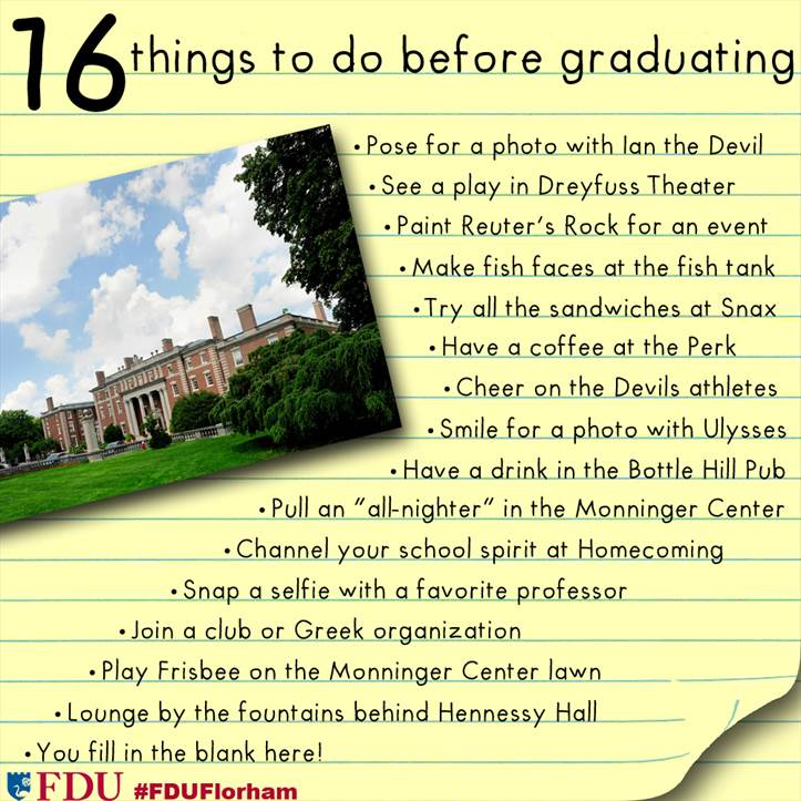 100 things to do before graduating — four years ago, melis '08 posted a list of the 101 things to do before you graduate for her graduating class that was right when i entered mit.