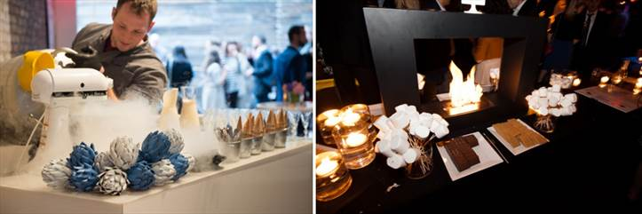 Catering display at Riviera