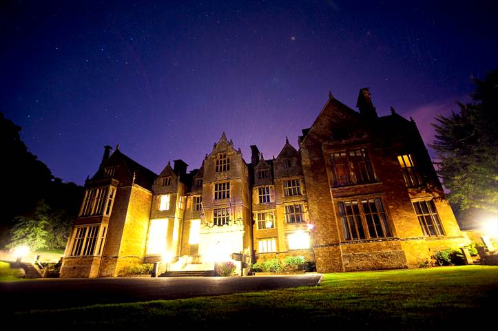 Abbey at night