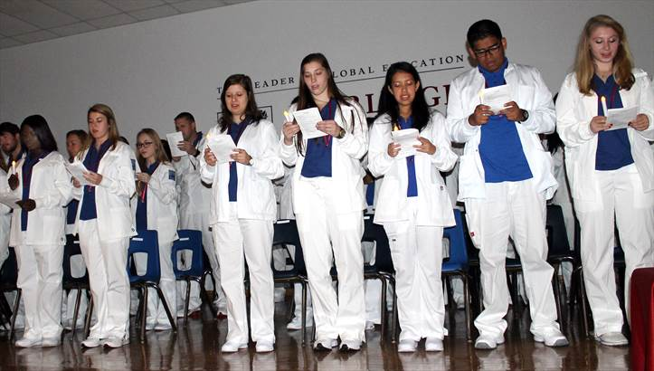 Nursing students white coat ceremony