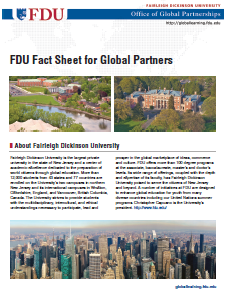 FDU Fact Sheet for Global Partners (PDF)