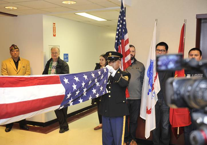 Flag folding ceremony