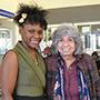 Student Timisha Johnson and mentor Judith Kaufman, psychology, director of PsyD and MA programs in school psychology and director of University core