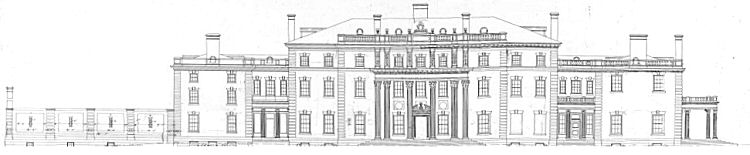 Mansion Front Elevation Drawing